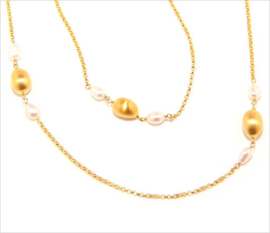 Image of ILI'ILI GOLD & PEARL NECKLACE