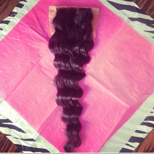 Image of Silk base/ Loose Wave/ Middle Part