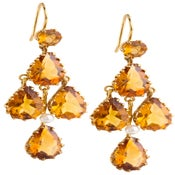 Image of Kara Ackerman <i> Elizabeth <i/> Chandelier Earrings in Citrine and 14k Yellow Gold