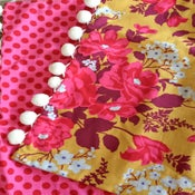 Image of Yellow Floral & Pink Dot Pillow Sham