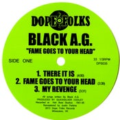 "Image of BLACK A.G. ""FAME GOES TO YOUR HEAD"""