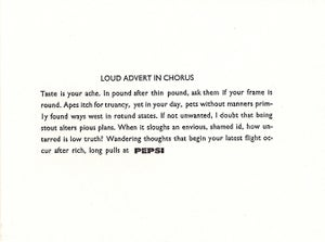 Image of Loud Advert in Chorus
