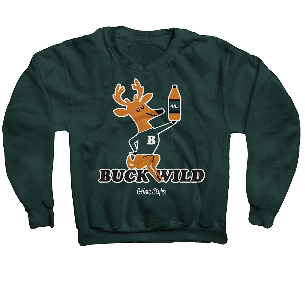 Image of Buck Wild Crewneck