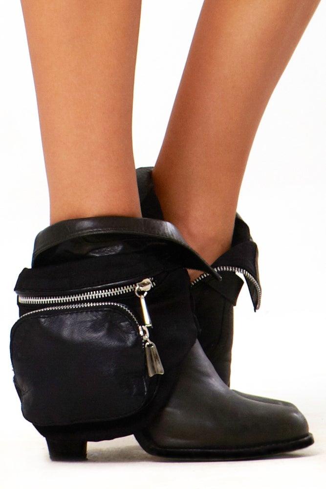 Image of Blue Jean Baby Leg Bag- Black