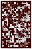 Image of 676685000965 Barcelona rug brown and white
