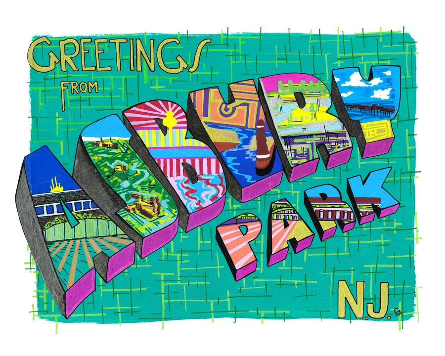Image of Greetings From Asbury Park, Green
