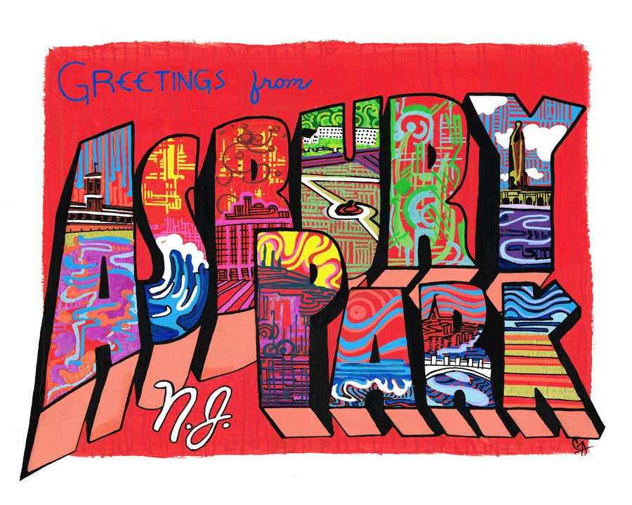 Image of Greetings From Asbury Park, Red
