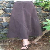 Image of Long Spiralled Skirt