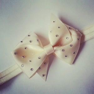 Image of Ivory Boutique Crystal Bow