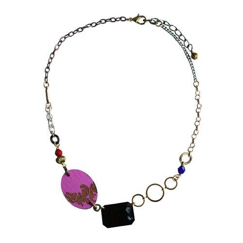 Image of Short Baroque jem necklace- various colours