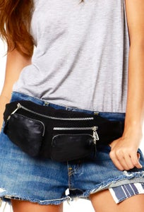 Image of Blue Jean Baby Bum Bag- Black