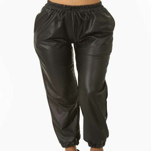 Image of Leather Jogging Sexy Pant