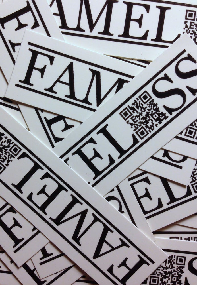 Image of FAMELESS QR Stickers
