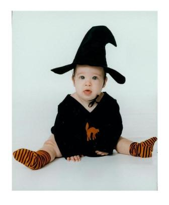 Image of Cotton Baby Costumes Witchie Girl Dress Witch Costume 0-6 months SOLD OUT!