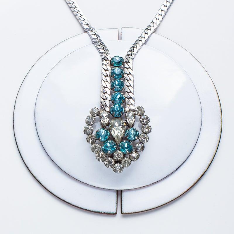 Image of Antique Garne Rhinestone Statement Necklace