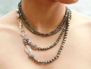 Image of Long Pyrite Necklace
