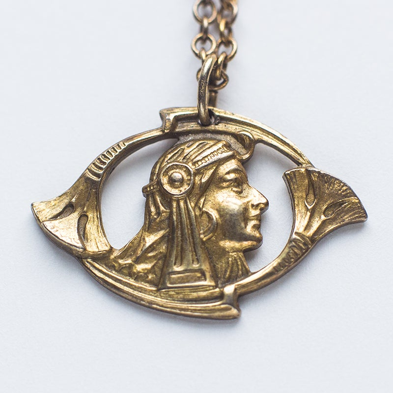 Image of Antique Egyptian Revival Pendant necklace