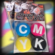 "Image of ""CMYK"" 4 Button Pack"