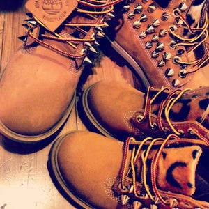 Image of Custom Spiked Leopard Timberlands
