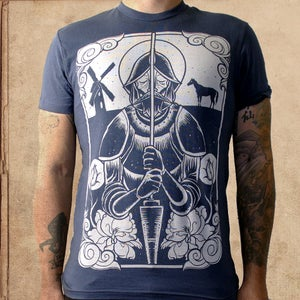 Image of Don Quixote - Navy Blue -discharge ink