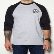 Image of ALL THE WAY-RAGLAN-HEATHER/BLACK