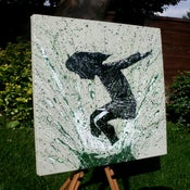 "Image of ""SplashBack"" Canvas Edition - Olive"