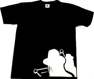 Image of Dub Police Front Line Black/White Mens T-shirt