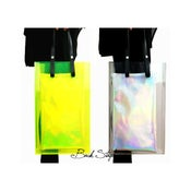 Image of Limited Edition - 6.0 Transparent Neon Yellow Long Clear Acrylic Perspex Box See Through Handbag Bag