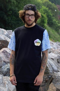 Image of Ornate China Cut and Sew Pocket T-shirt