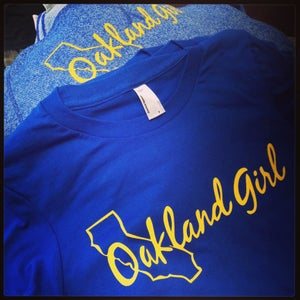 "Image of Royal & Yellow ""Golden State"" Tee"