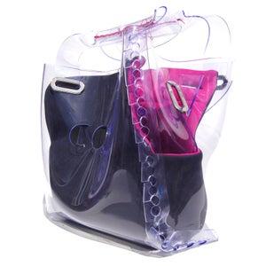 Image of Box Bag - Pink/Grey