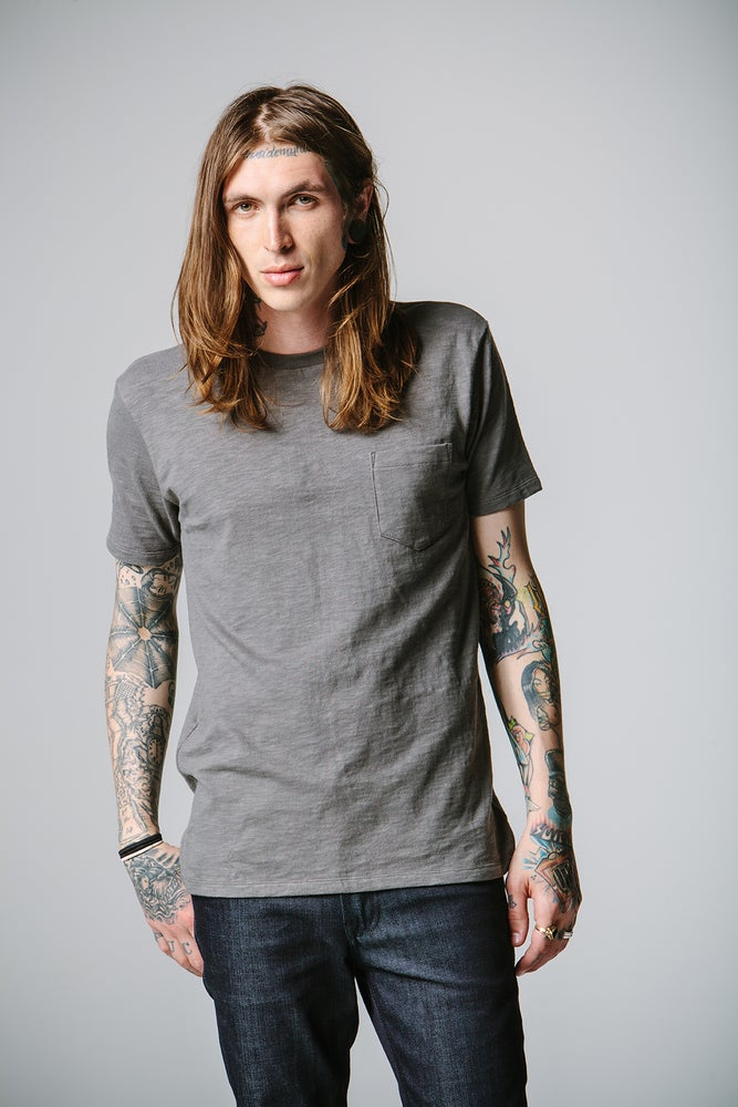 Image of Round Neck T-shirt - Gray