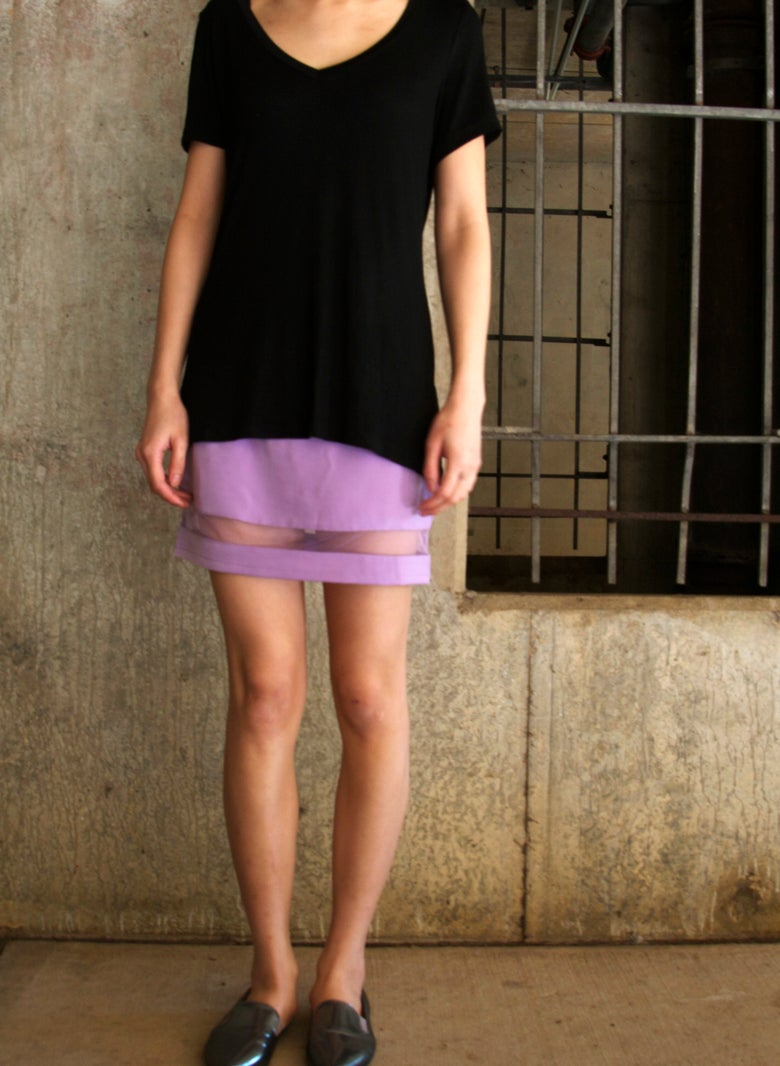 Image of MESH Skirt in Lilac
