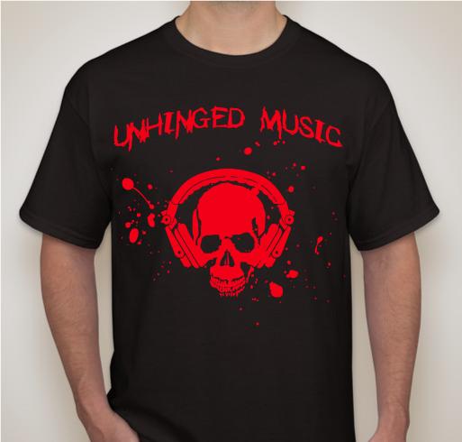 Image of Unhinged Music Skull T-Shirt