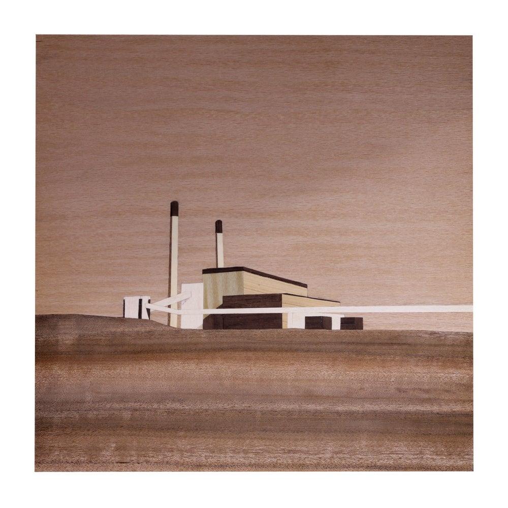 Image of Cockenzie Power Station - 21 x 21cm Digital Print