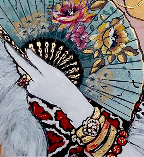 Image of Beauty and fan