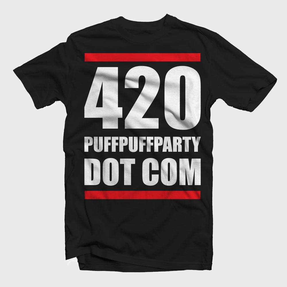 Image of {BLACK} 420 PUFFPUFFPARTY DOT COM