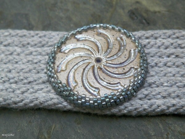 Image of SALE! Whirligig, handbeaded kumihimo cuff