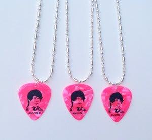 Image of Anson Li Guitar Pick Necklace (Pink)
