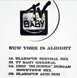 """Image of TV Baby """"New York is Alright"""" limited edition 12"""""""