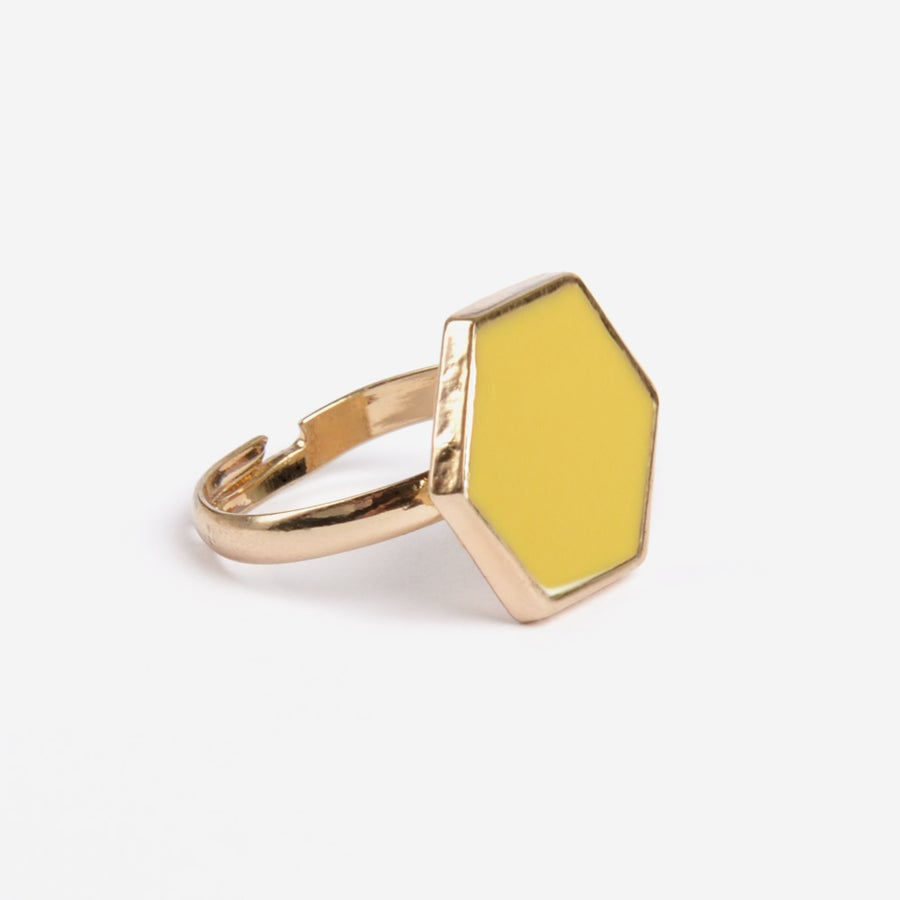 Image of Mustard Hexagon Ring