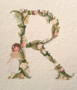 Image of Flower Initial Painting
