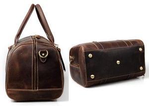 Image of Handmade Vintage Leather Duffle Bag, Travel Bag, Gym Bag, Overnight Bag, Weekend Bag, Handbag #N06