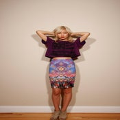 Image of Multi-Colored Aztec Pencil Skirt