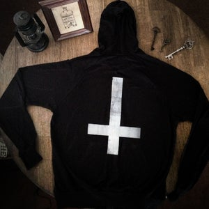 Image of Upside-Down Cross Zip Hoodie