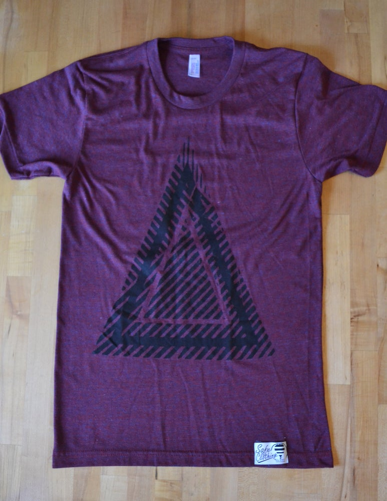 Image of Triangle Tee | Maroon