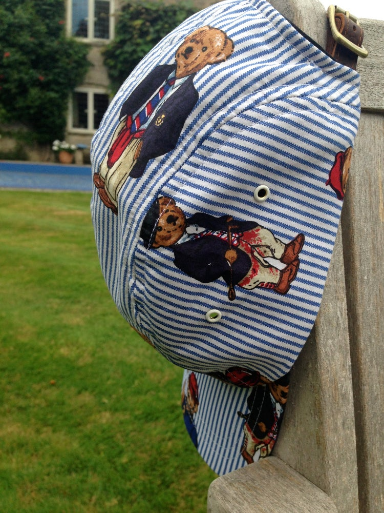 Image of 5 Panel cap with 'Ralph Bear' design