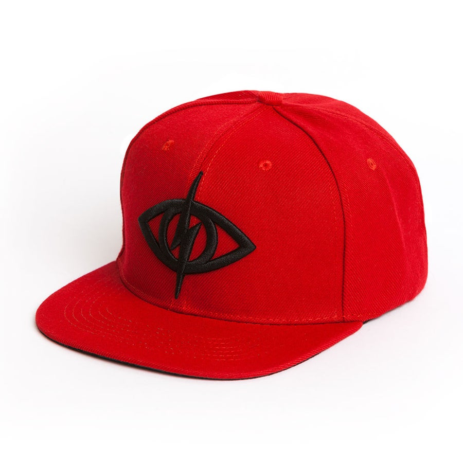 Image of THIRD EYE SNAPBACK [ red ]