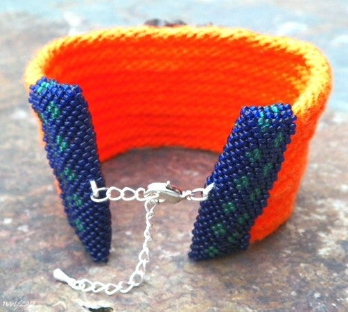 Image of SALE! Safety First! Handmade kumihimo cuff