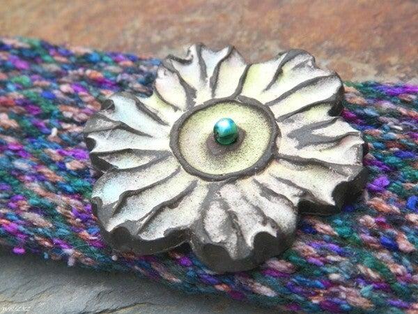 Image of SALE! Il Fiore del Carnevale handmade kumihimo cuff